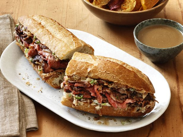 French Dip Sandwiches with Onion Spread