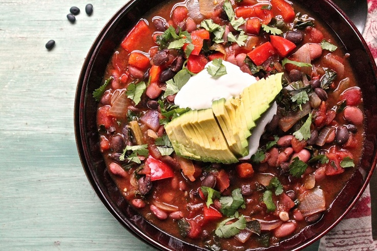 ... and black bean chili (vegan) | Fall & Winter Vegetarian Soups (he