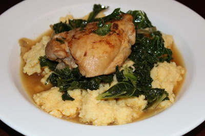 Google's braised chicken and kale from The Garlic Press