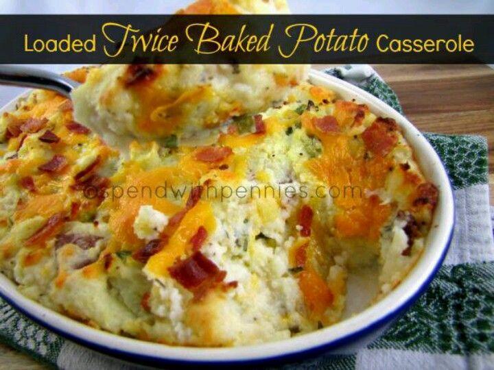 Twice baked potato casserole | Recipes | Pinterest