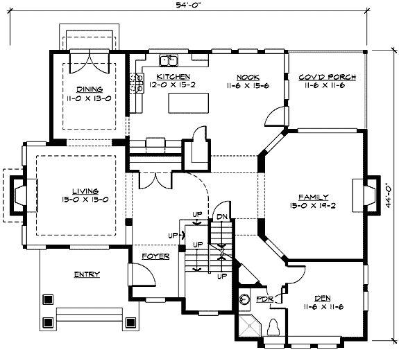 Plan w23350jd 3 or 4 car tandem garage floor plans 1 for 2 car tandem garage