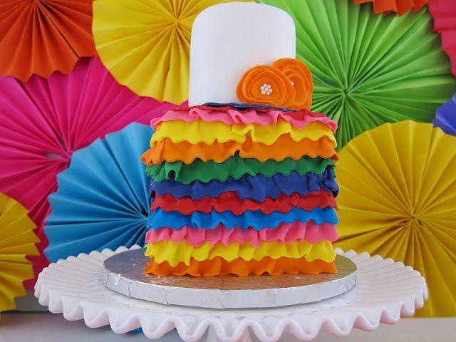 A colorful ruffle cake #CincoDeMayo