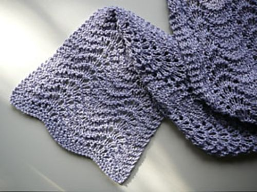 Feather and Fan stitch Knitting Pinterest