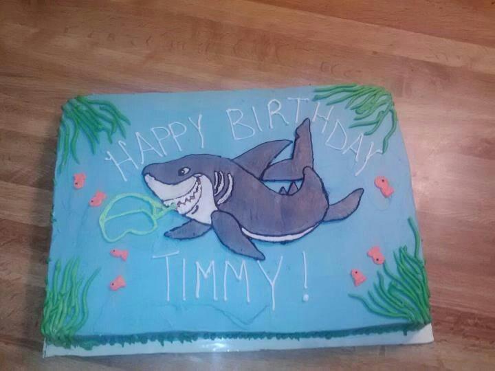 Cake Decorating Ideas Shark : Shark cake cake ideas Pinterest