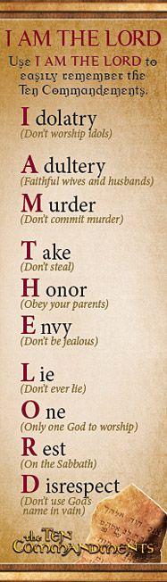 †~ Exodus 20:2-17. ~†~ The Ten Commandments ~†