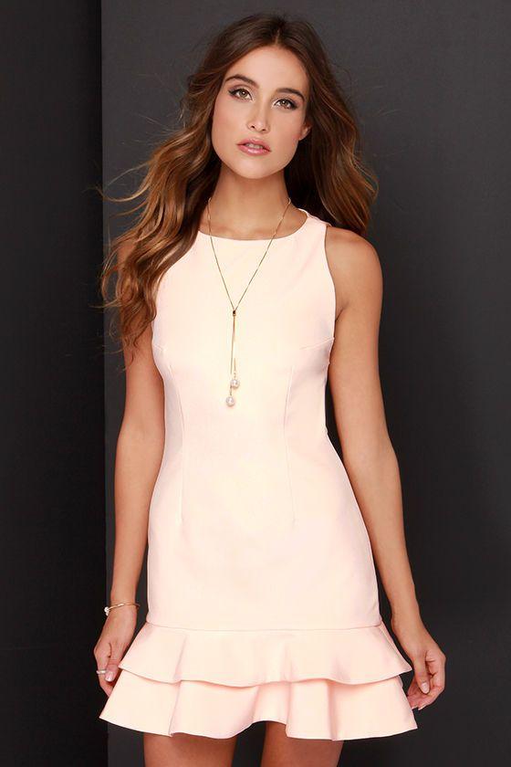 Peach Couture Classic Denim Uneven Hem Caftan Dress Long