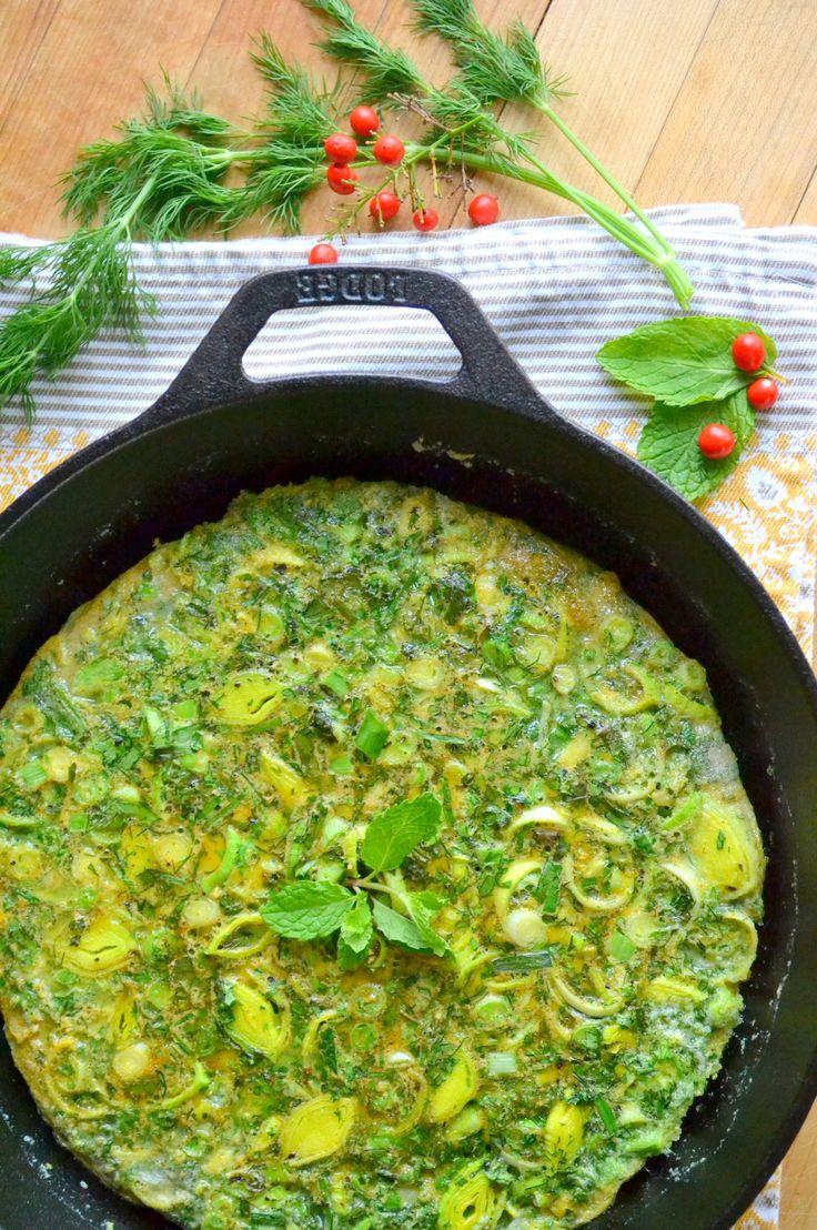 Persian Mixed Herb Frittata (Kuku Sabzi) Serve this beautiful frittata ...