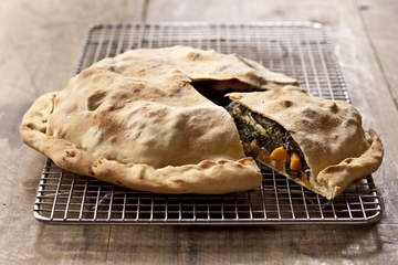 Sweet potato and Swiss chard pie
