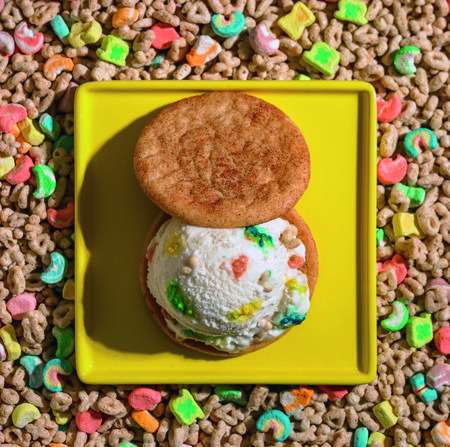 ... Lucky Charms Ice Cream Sandwich With Maple Flapjack Cookies via
