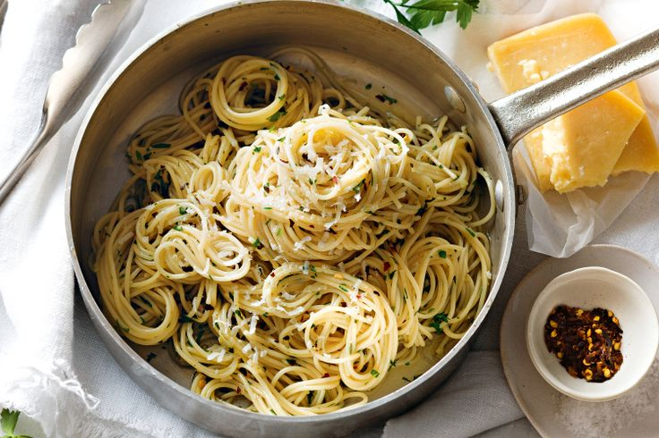 The classic oil and garlic pasta sauce, aglio e olio, comes from Rome ...