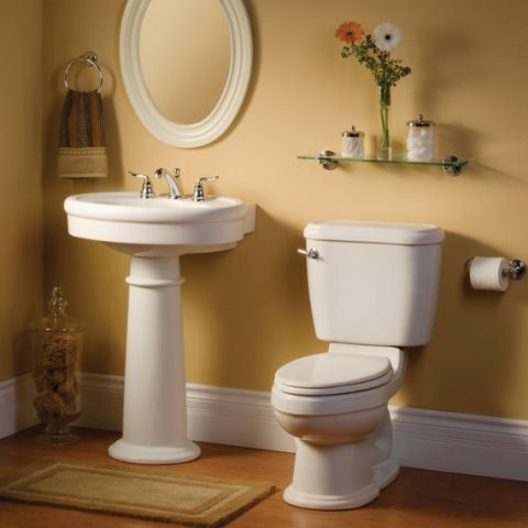 standard collection pedestal sink from american standard and love the