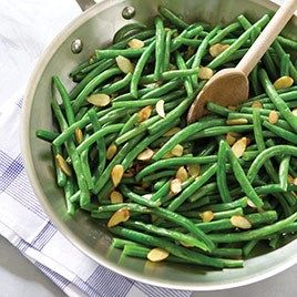bean salad with almonds and pecorino green beans with almond and lemon ...