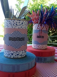 Utensil holders using Bazzill's Basics paper collection.