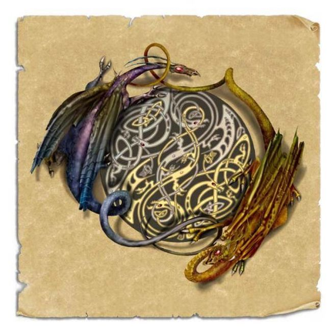 Dragon knot | Celtic me : Designs, patterns, crests | Pinterest Celtic ...