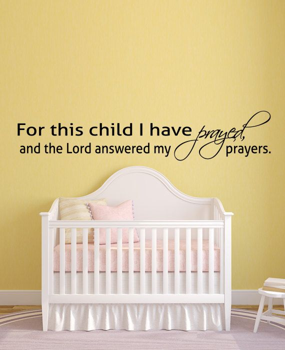 Old Fashioned For This Child I Have Prayed Wall Art Gift - All About ...