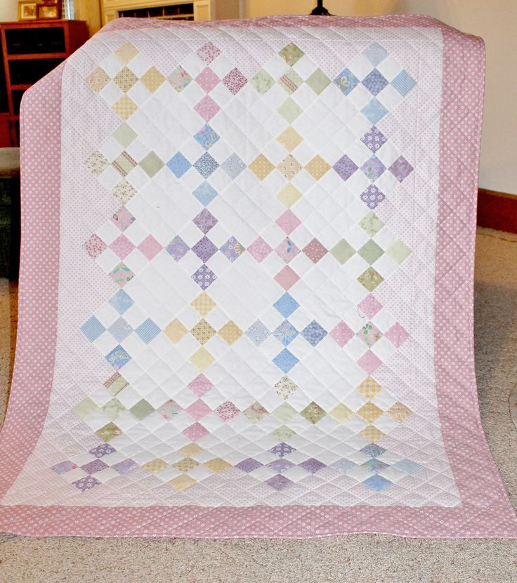 Quilt Ideas For Baby Girl : Nine Patch for baby girl, by Rhonda Byrd Quilt Ideas Pinterest