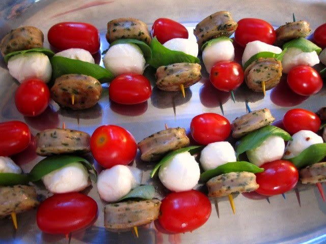 mozzarella skewers finger food pinterest