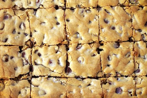Chocolate Chip 'cookie' brownies.....easy and yummy.