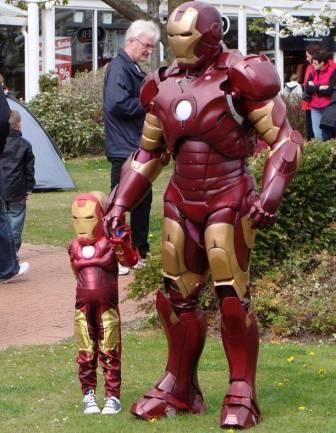 Iron Man and Mini Iron Man (Iron Boy?)