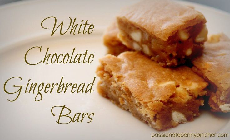 White Chocolate Gingerbread Bars ~ 12 Days of Christmas Baking