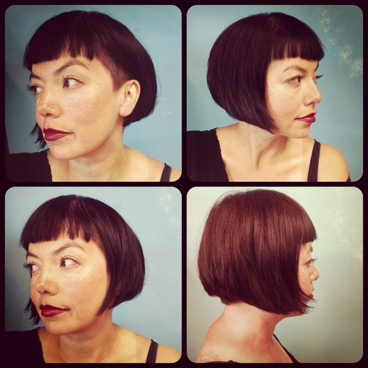 Cute short bob haircut with shaved side The hair etc