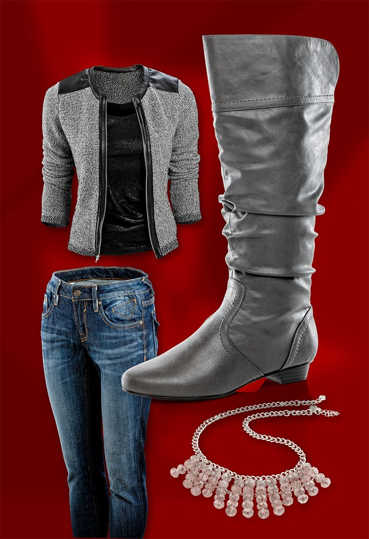 Soda Women's Casual Slouchy Flat Boots at Shoe Carnival