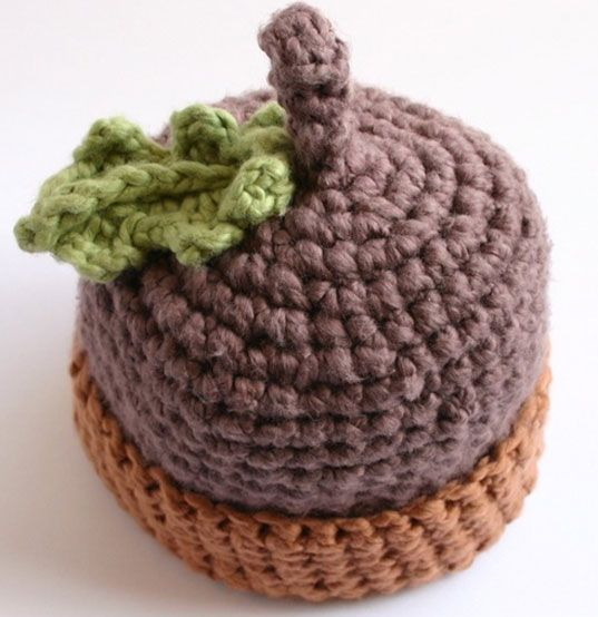 Free Crochet Baby Acorn Hat Pattern : Acorn Hat! - so cute! Crochet Love Pinterest