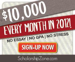 No Essay College Scholarship