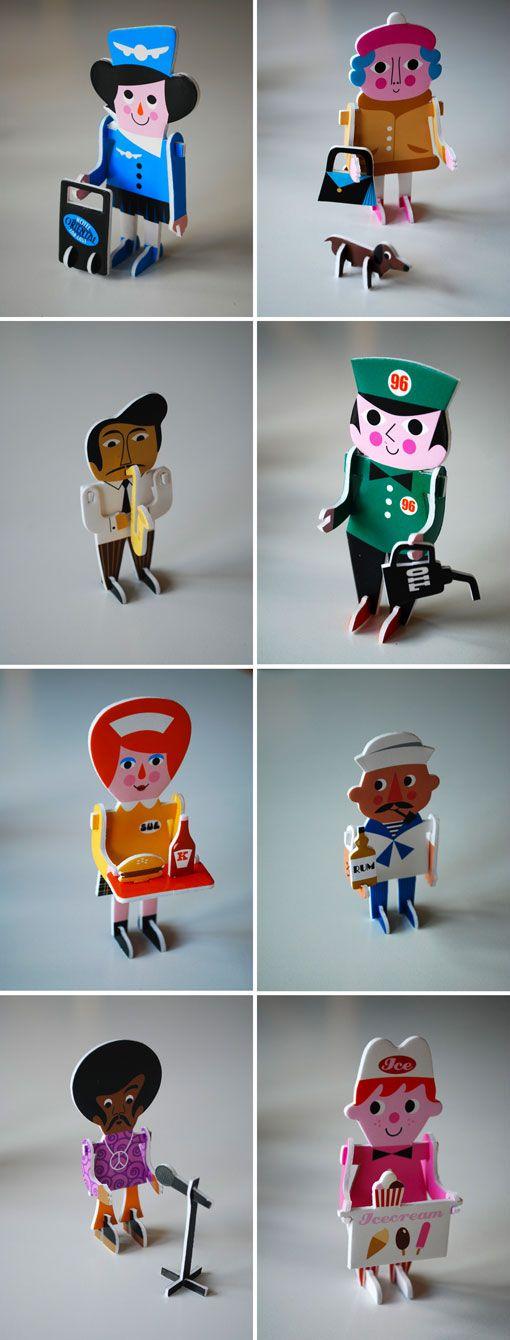 Ingela P Arrhenius's 2d puzzle characters