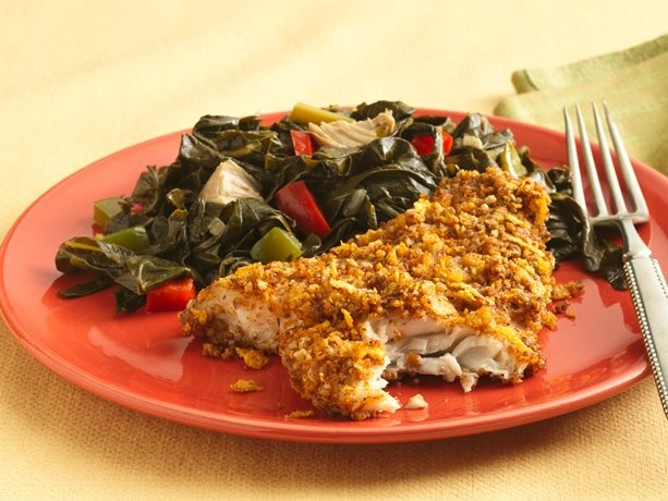 pecan crusted catfish with cornflakes? Maybe I will use special K