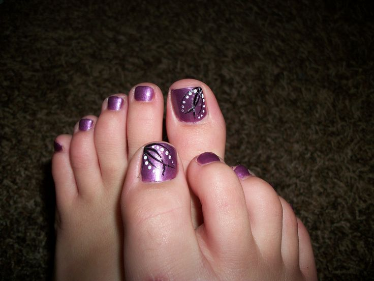 Purple Pedicure Designs Images Free Download 20 Cool Purple Nail