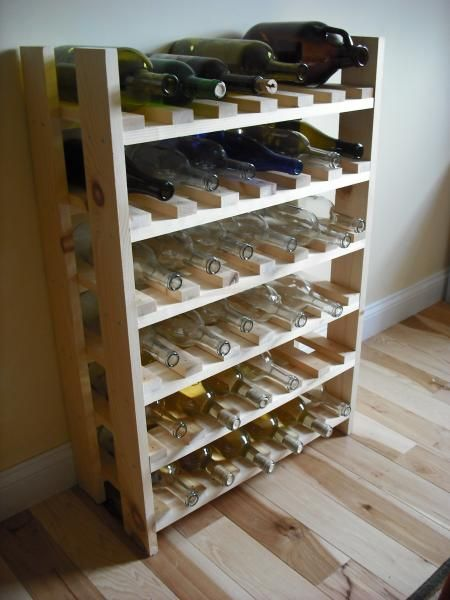 Wine rack plans home brew forums woodworking pinterest - Wine rack for small space plan ...