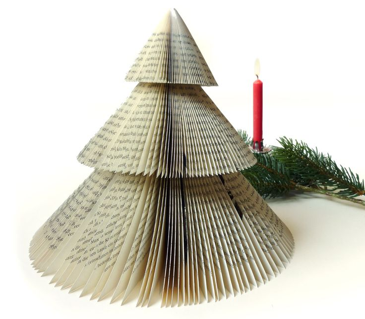 Xmas diy recycled fir crafty christmas trees pinterest for Christmas tree made from old books