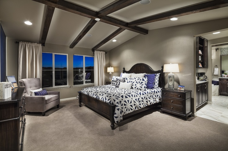 Pin by katie stacko on for the home pinterest Master bedroom ceiling beams
