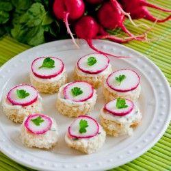 Radish Tea Sandwich | Greatest Food Blogger Recipes | Pinterest