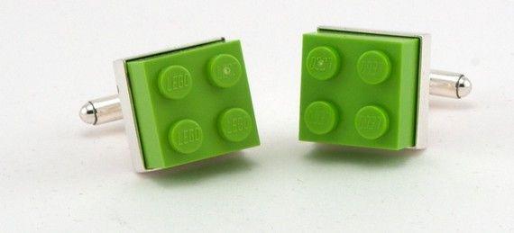 #Lego #Cufflinks - #Lime