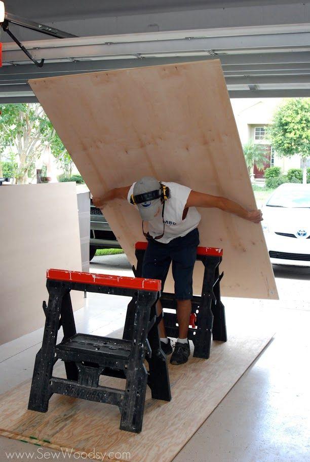 DIY Trumeau Floor Mirror made from PureBond® Hardwood Plywood | Sew ...