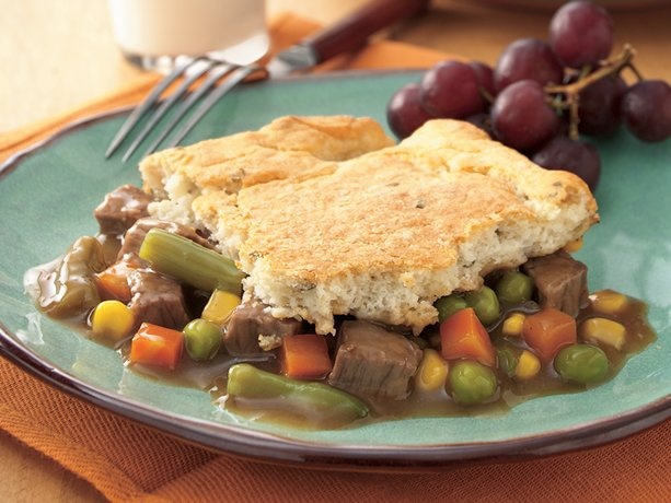 Beef Pot Pie with Potato Biscuit Crust | Recipe