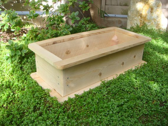 Wood planter flower box vegetable garden pot cedar wood custom or