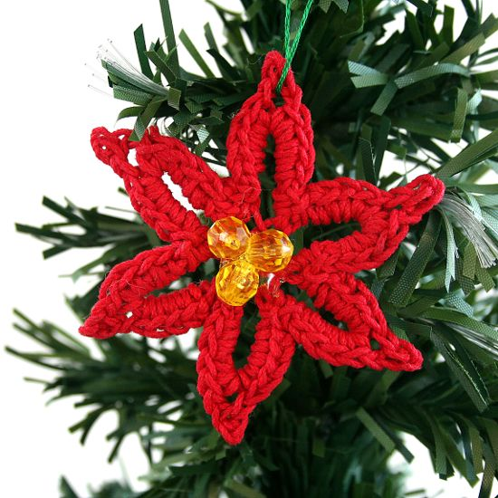 Free Crochet Patterns For Christmas Flowers : Poinsettia - free crochet pattern Crochet Christmas ...