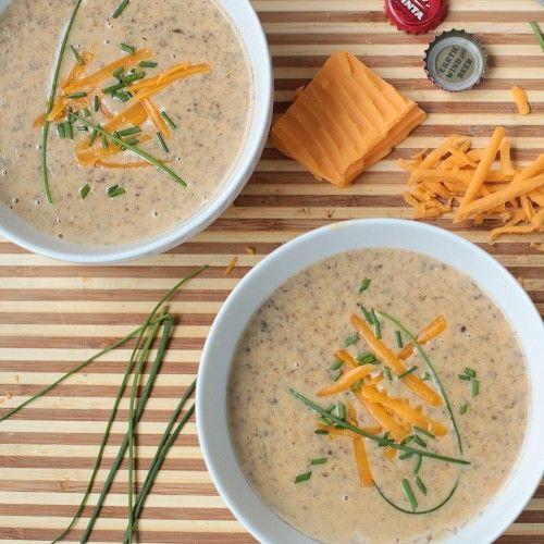 wisconsin beer cheese soup yum recipe eat mushrooms lunch dinner food