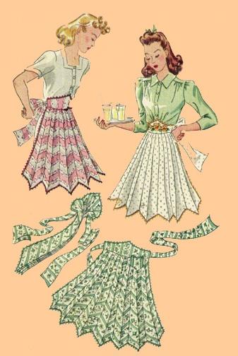 A40-884 Necktie Apron, circa 1941   Sewing   Pinterest