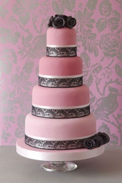 Cake Gold Pink And Black Wedding | Colourful wedding cakes | Plan Your Perfect Wedding | The UKs best ...