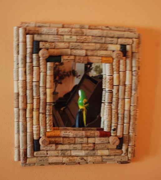 wine cork frame.  Arts & Crafts  Pinterest