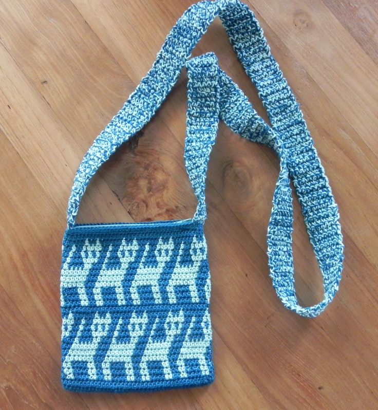crochet bag>tapestry z crochet bag/pouch/cozy/basket Pinterest