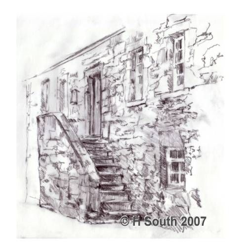 Sketch of an old house architecture sketches pinterest