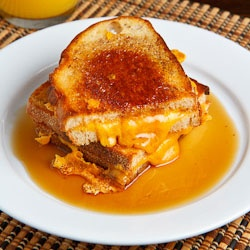 cheese sandwich and maple syrup | Food recipes to try | Pinterest