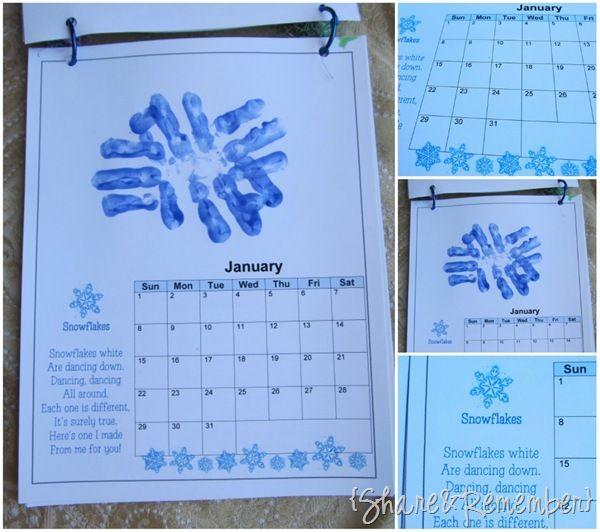 Great Calendar Ideas : Handprint calendar ideas great resource art work for