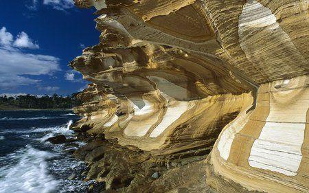 Painted Cliffs - cliffs, ocean