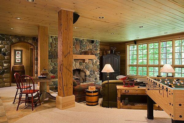 log cabin basement dream home pinterest